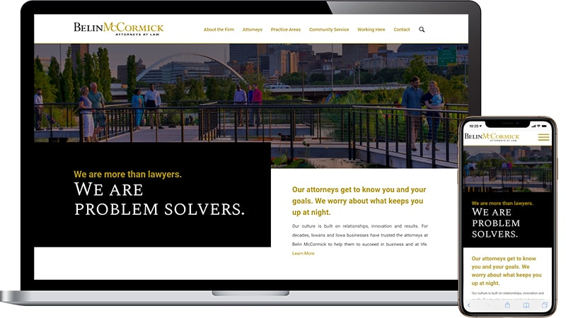 Belin McCormick Website Design