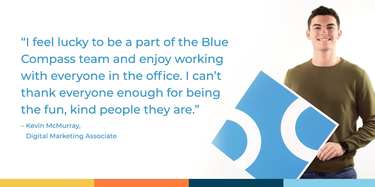 Quote about working at Blue Compass.