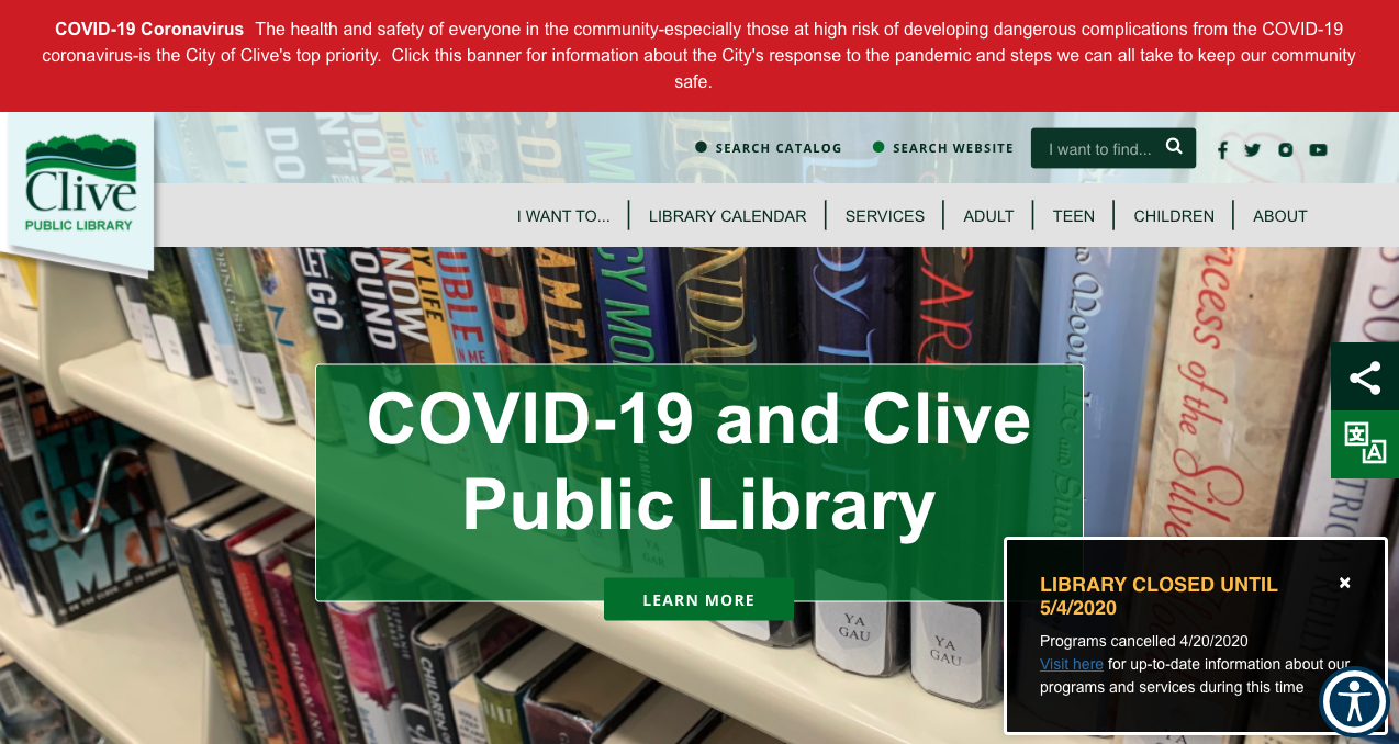 clive library website.