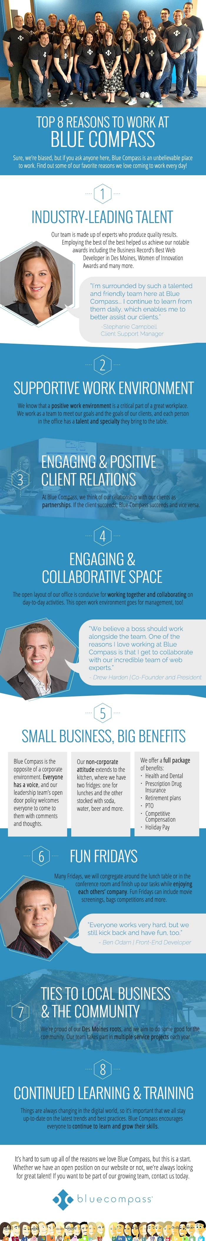 Reasons to Work at Blue Compass