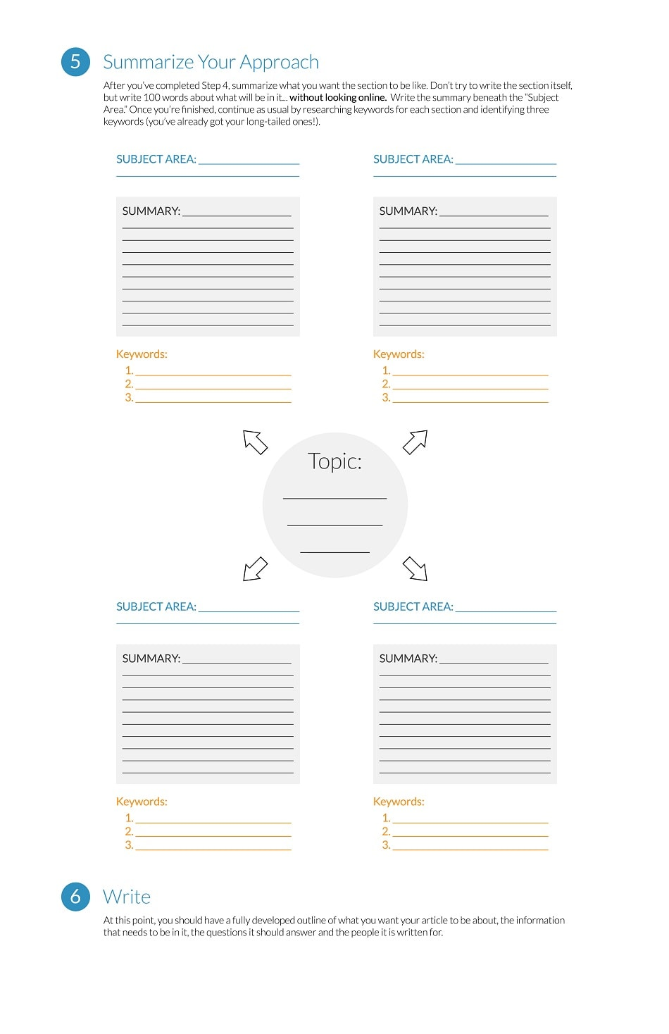Worksheet to Create new Original Content Page 2