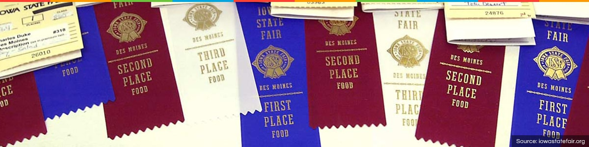 Ribbons at the Iowa State Fair