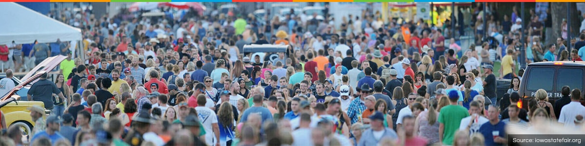 Crowded Iowa State Fair
