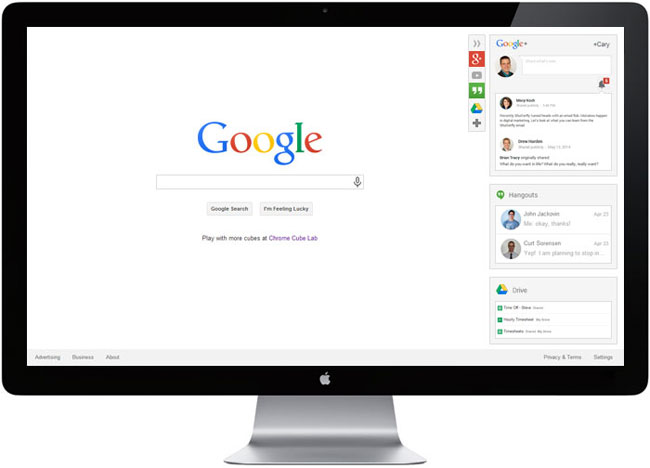 Google redesign information area idea