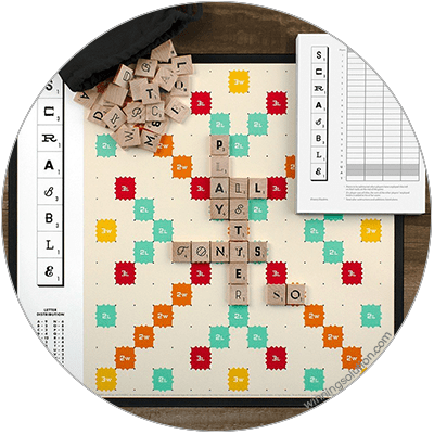 Scrabble in different Typography