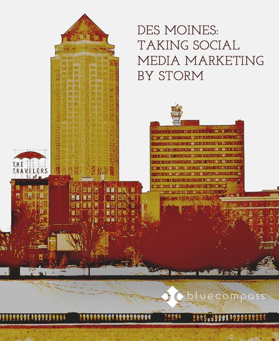 Infographic for Des Moines: Taking Social Media Marketing by Storm