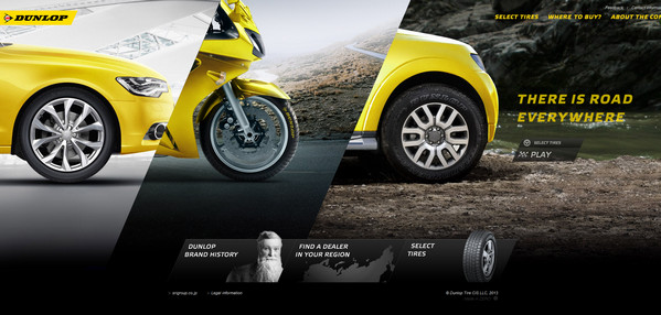 diagonal design: dunlop tires