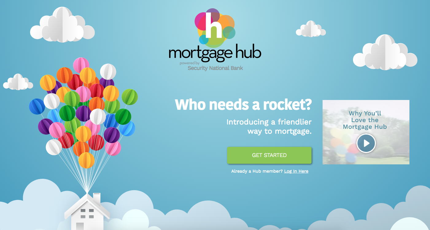 Mortgage hub design inspiration.