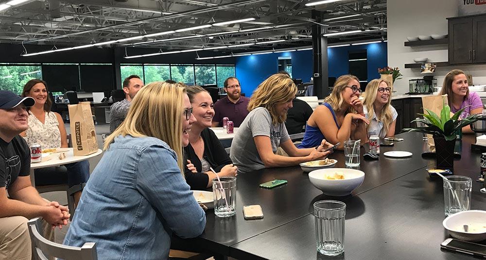 web development team lunch
