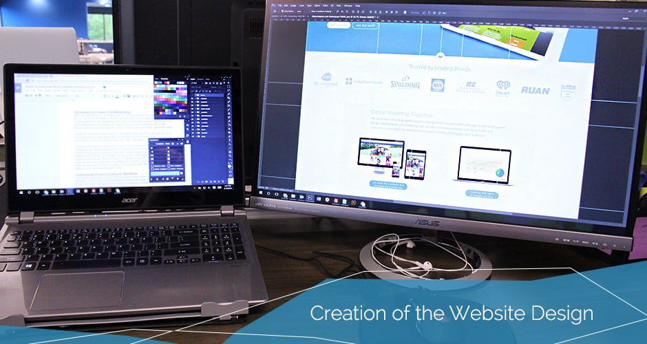 Blue Compass Website design creation
