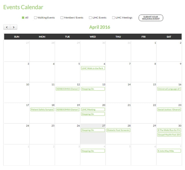 Events Calendar for Long Island