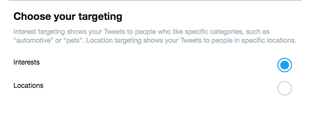Twitter Promote Mode Targeting