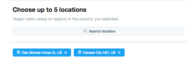 Twitter Location Targeting