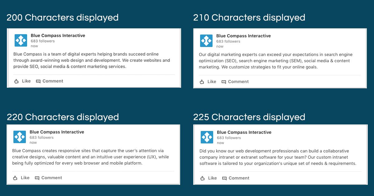 linkedin post character count