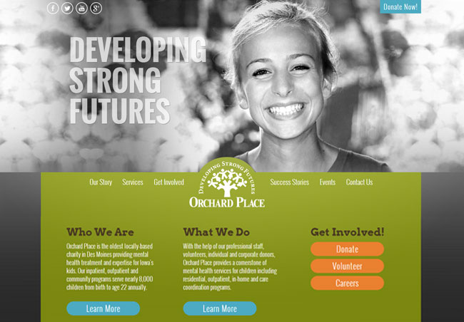 orchard place website design by blue compass