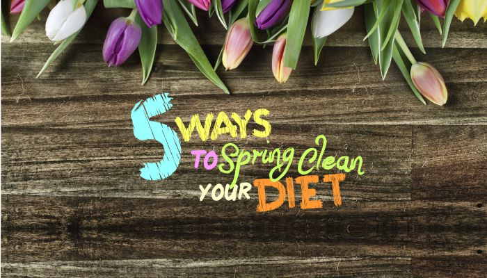 spring clean diet infographic by blue compass interactive