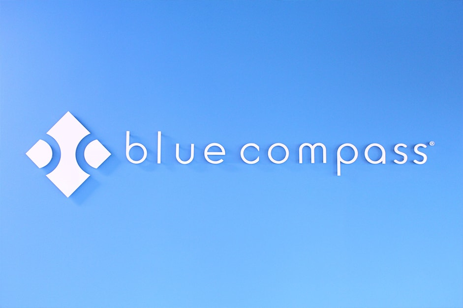 Logo at Blue Compass in Des Moines