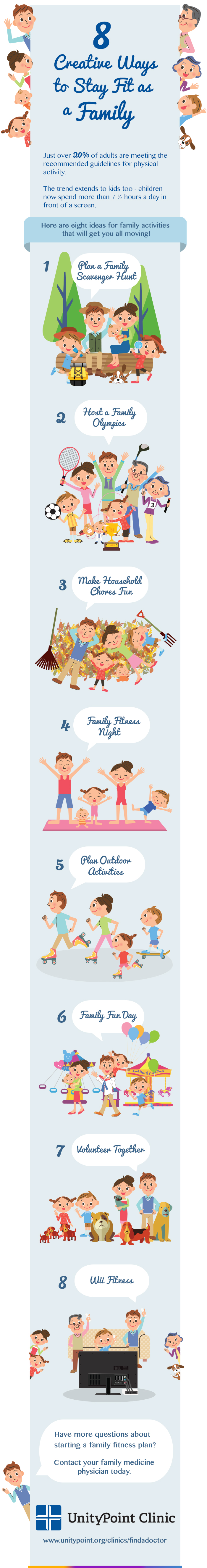 Family Fitness Infographic