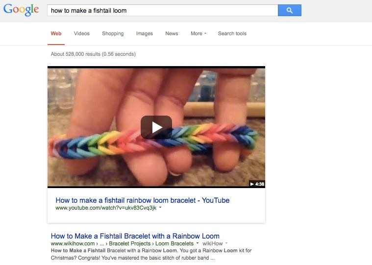 Optimize Video for Google Direct Answer Organic Search
