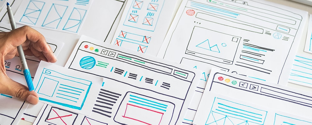 UX research and wireframes