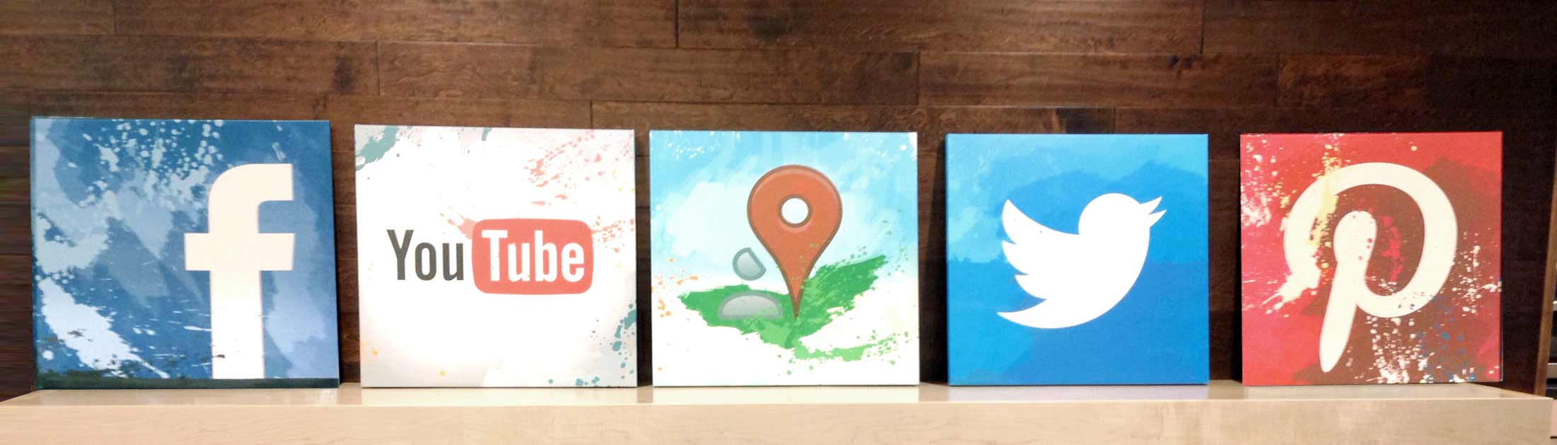 social media paintings from Blue Compass