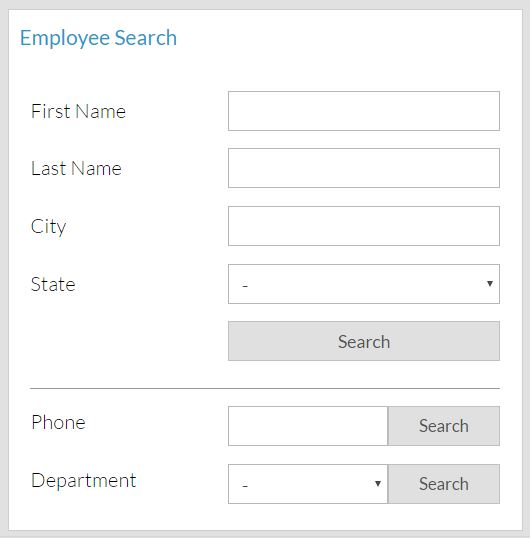 Intranet software search functionality