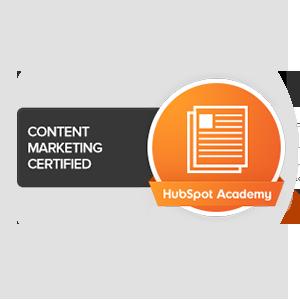 Hubspot content marketing certified