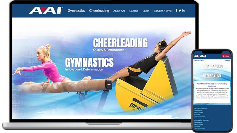 athletic web design