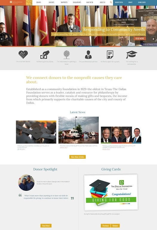 Dallas Foundation Web Design and Development
