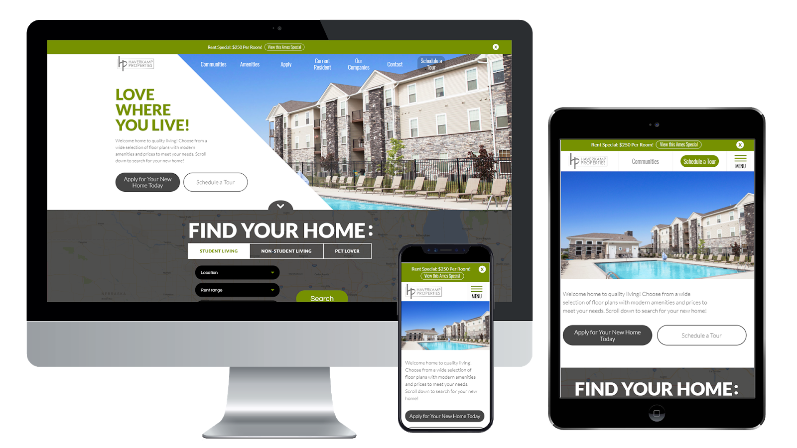 Haverkamp Properties Web Design and Development
