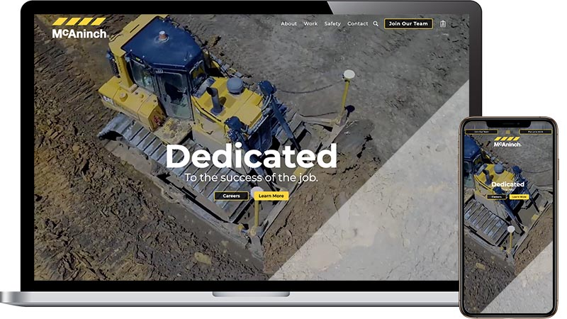 Cement and concrete company web design and development