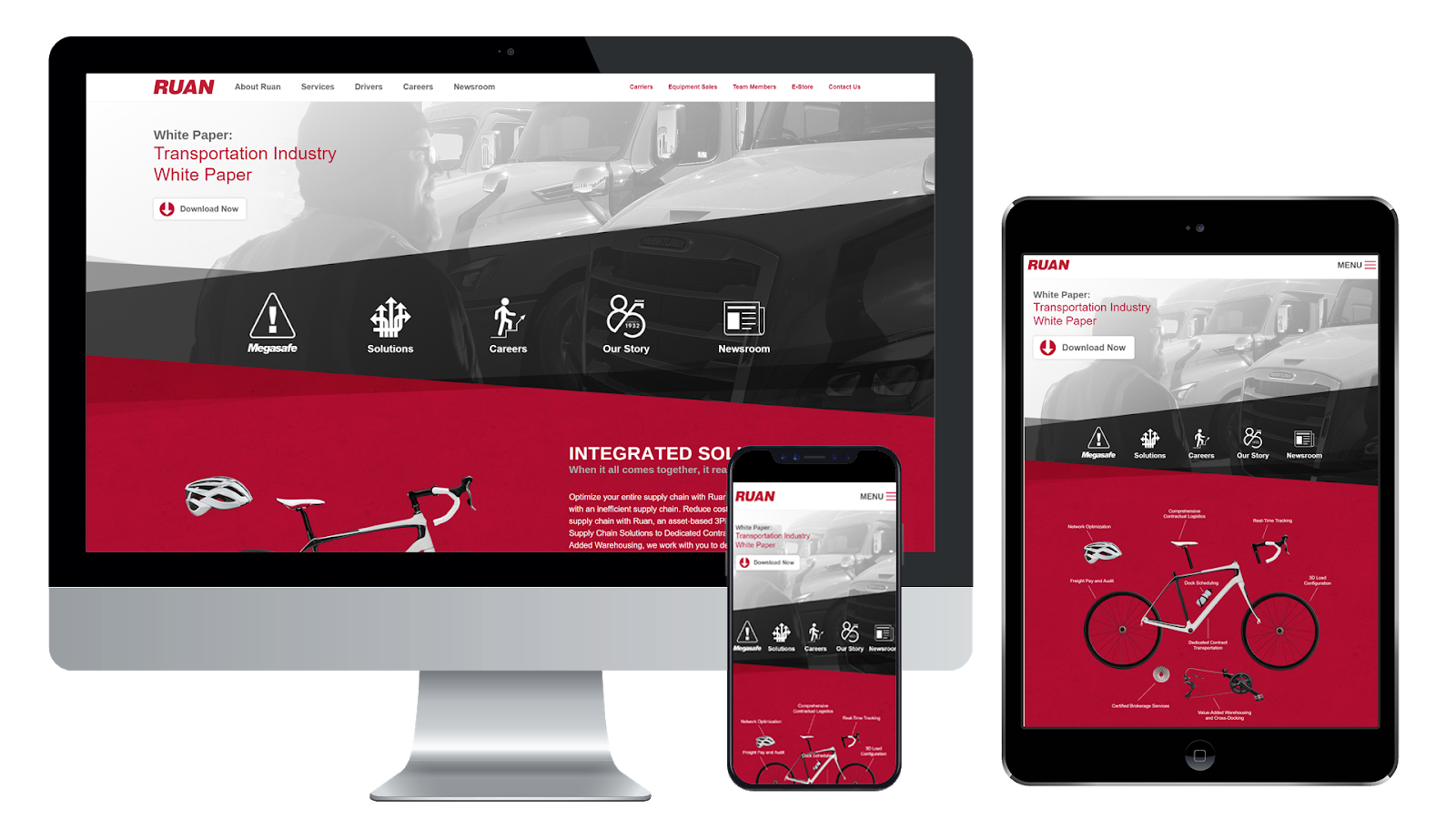 Ruan Transportation website design