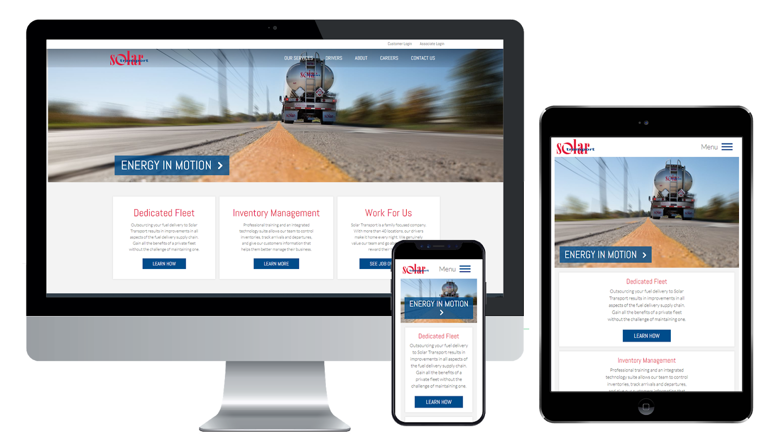 transportation industry website design