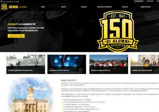 University of Iowa Alumni Association UIAA Website