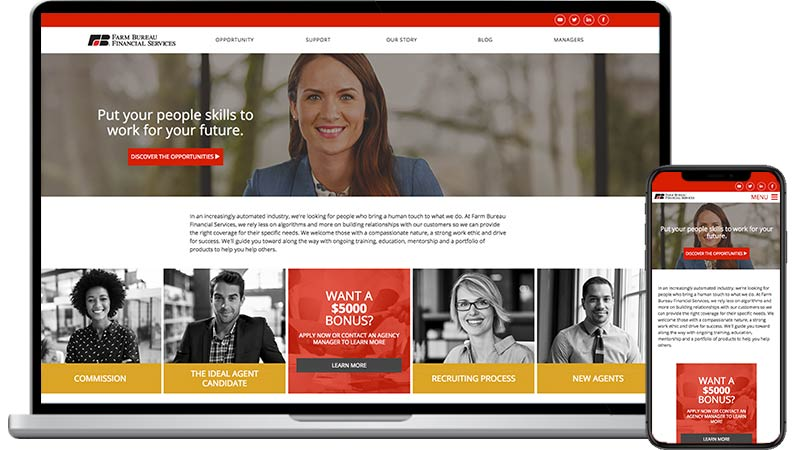 Farm Bureau Financial Services website design
