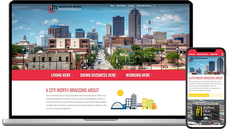 Greater Des Moines Partnership Website