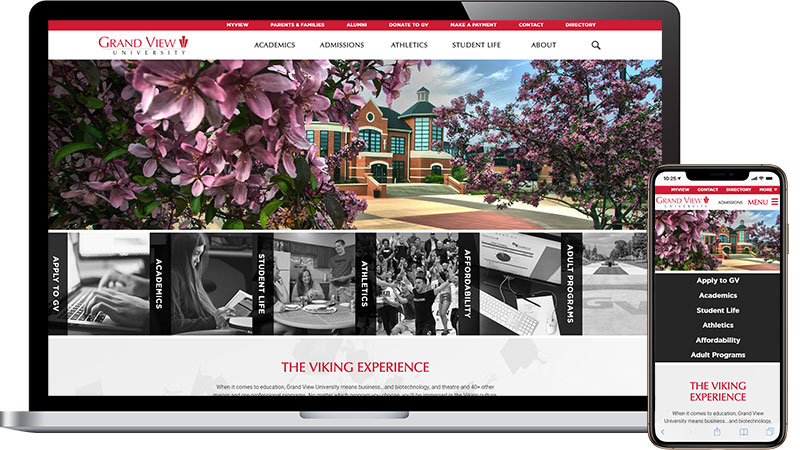 Grand View University Website