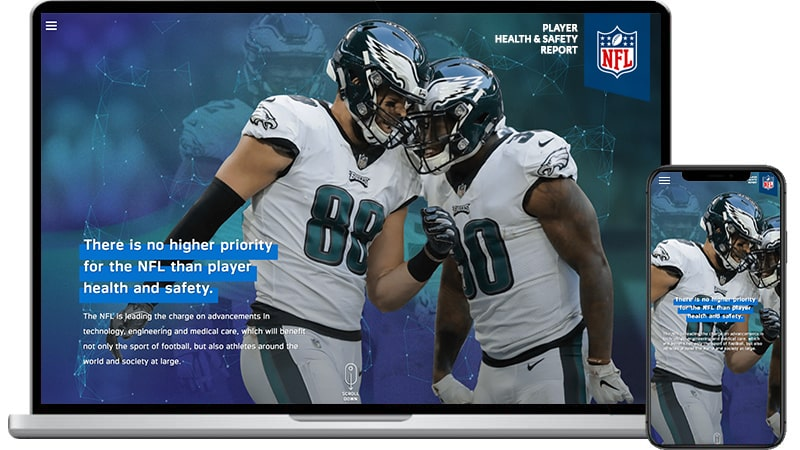 NFL Player Health & Safety Website Design