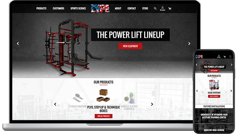 Power Lift Website Screnshot