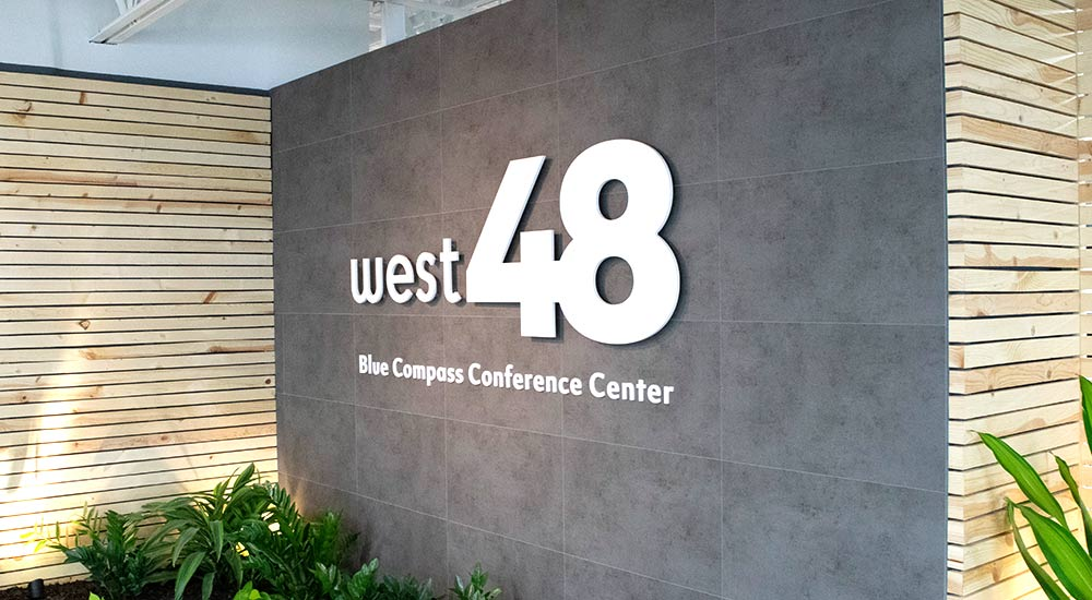 West48 Conference Center Entryway Signage.