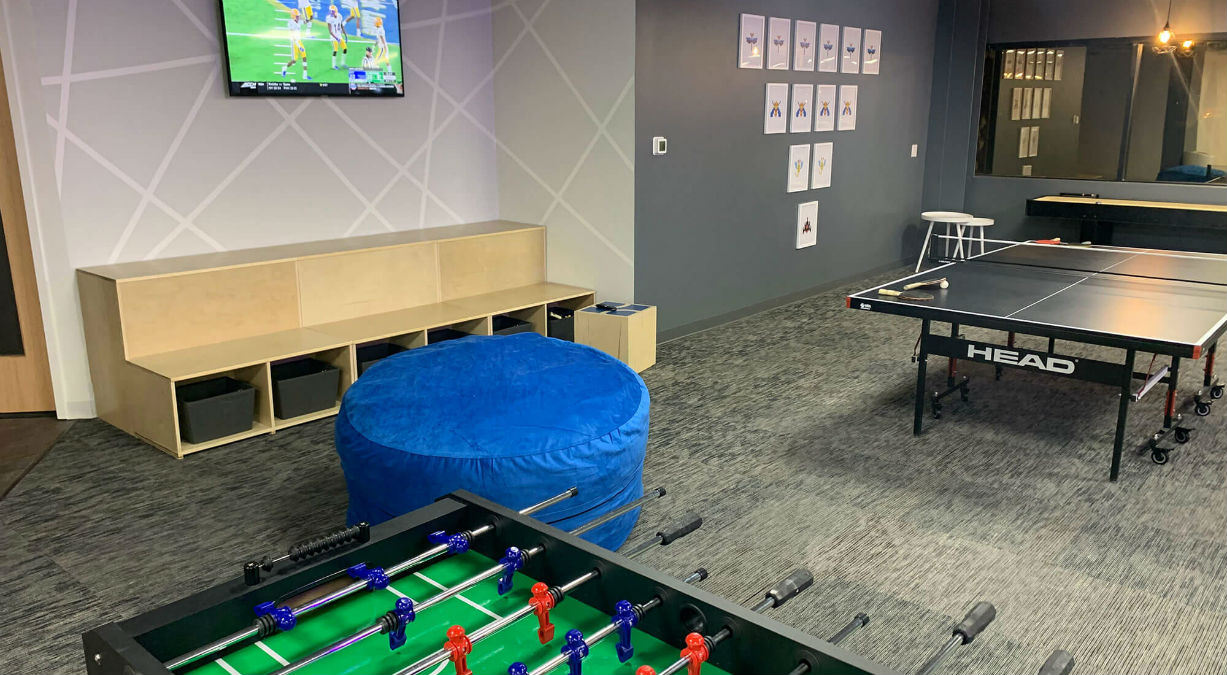 West48 Game Room with Foosball, Ping Pong and More.